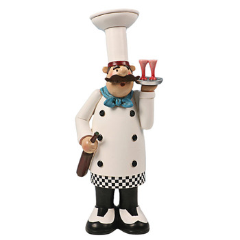 Resin Italian Chef Statues For Kitchen Decor