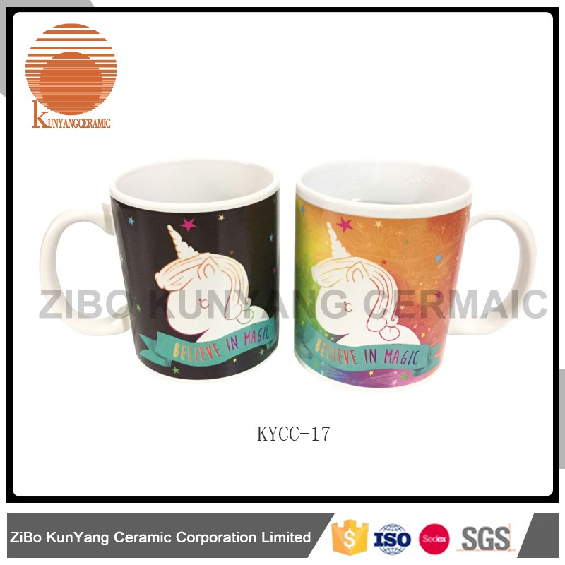 heat sensitive color changing mugs /sublimation mugs/custom mugs and very magic