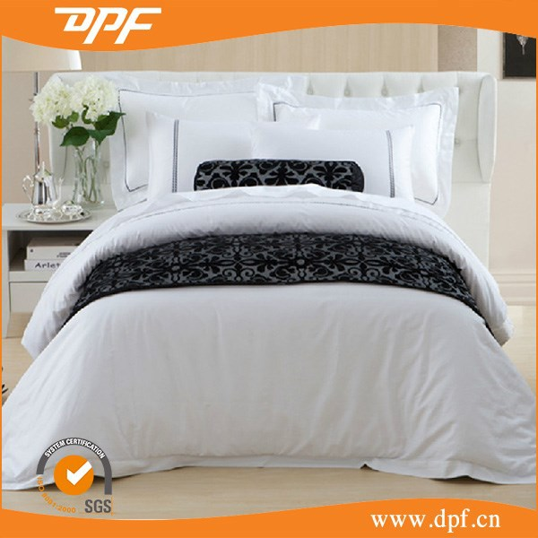 high Qulity classic black and white bedding sets cushion and bed runner