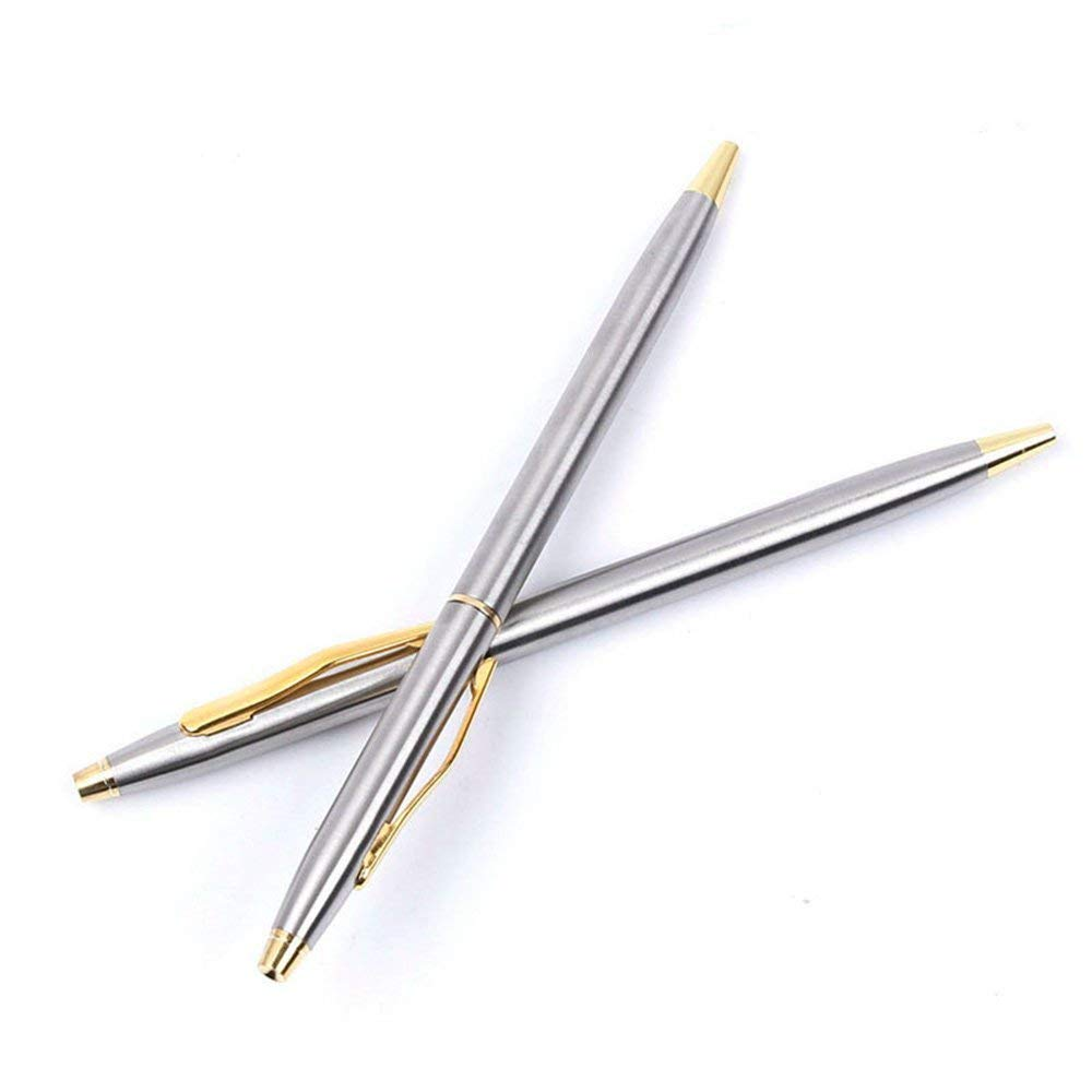 GMYANYZB Ballpoint pen Hot Sale Stainless Steel Rod Rotating Metal Ballpoint Pen Commercial Ballpoint Pen Gift Stationery