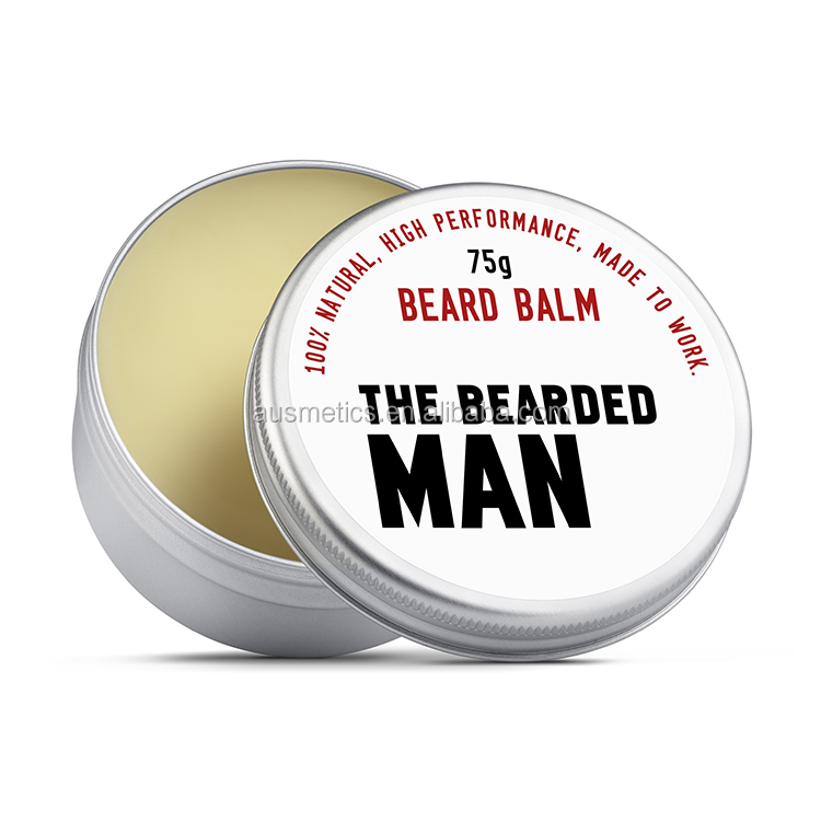 High quality natural mens care styling beard balm private label