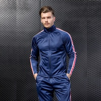 2018 Running Jacket Mens Full Zip Track Suit Sports Fitness Long Sleeves Striped Sweatshirts Windcheater Windproof Jacket