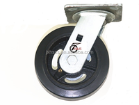 6x2 plastic,rubber,iron caster wheel