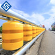 road traffic safe EVA barrels rolling crash barrier