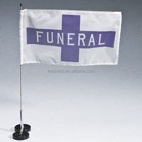 100%Polyester New Product 12''X18'' Custom Funeral Car Flag