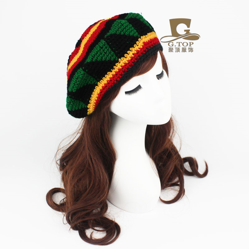 Jamaica ganchillo hecho a mano boina sombreros rasta tapas RC-028 ...