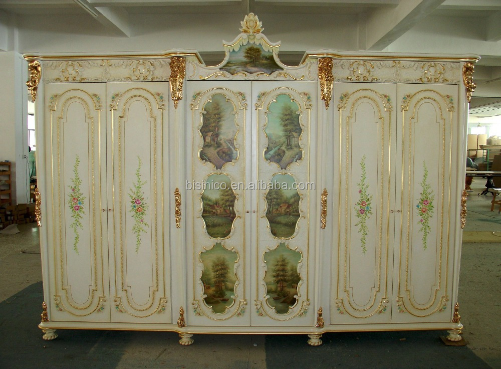 Luxury french rococo style four door wardrobe closet for What is the other name for the rococo style