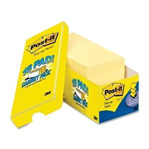 "3M Commercial Office Supply Div. Post-It Notes, Pop-Up, 3""X3"", 90 Sheets/Pad, 18/Pk, Canary - 3M Commercial Office Supply Div. Post-It Notes, Pop-Up, 3""X3"", 90 Sheets/Pad, 18/Pk, Canarypost-It Pop-Up"