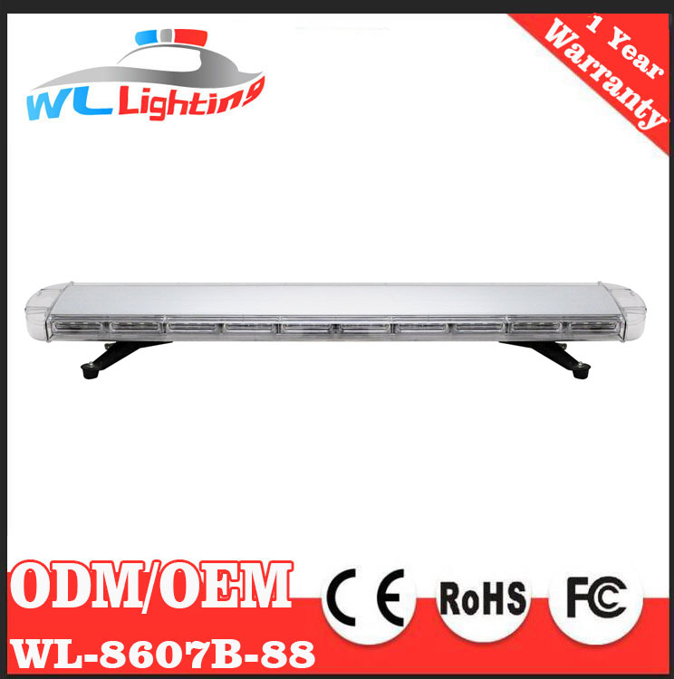 "12V-24V 1200mm Universal 48""Inch 88 LED Emergency Warning Light Recovery LightBar Flashing Beacon Light Bar with Linear Lens"