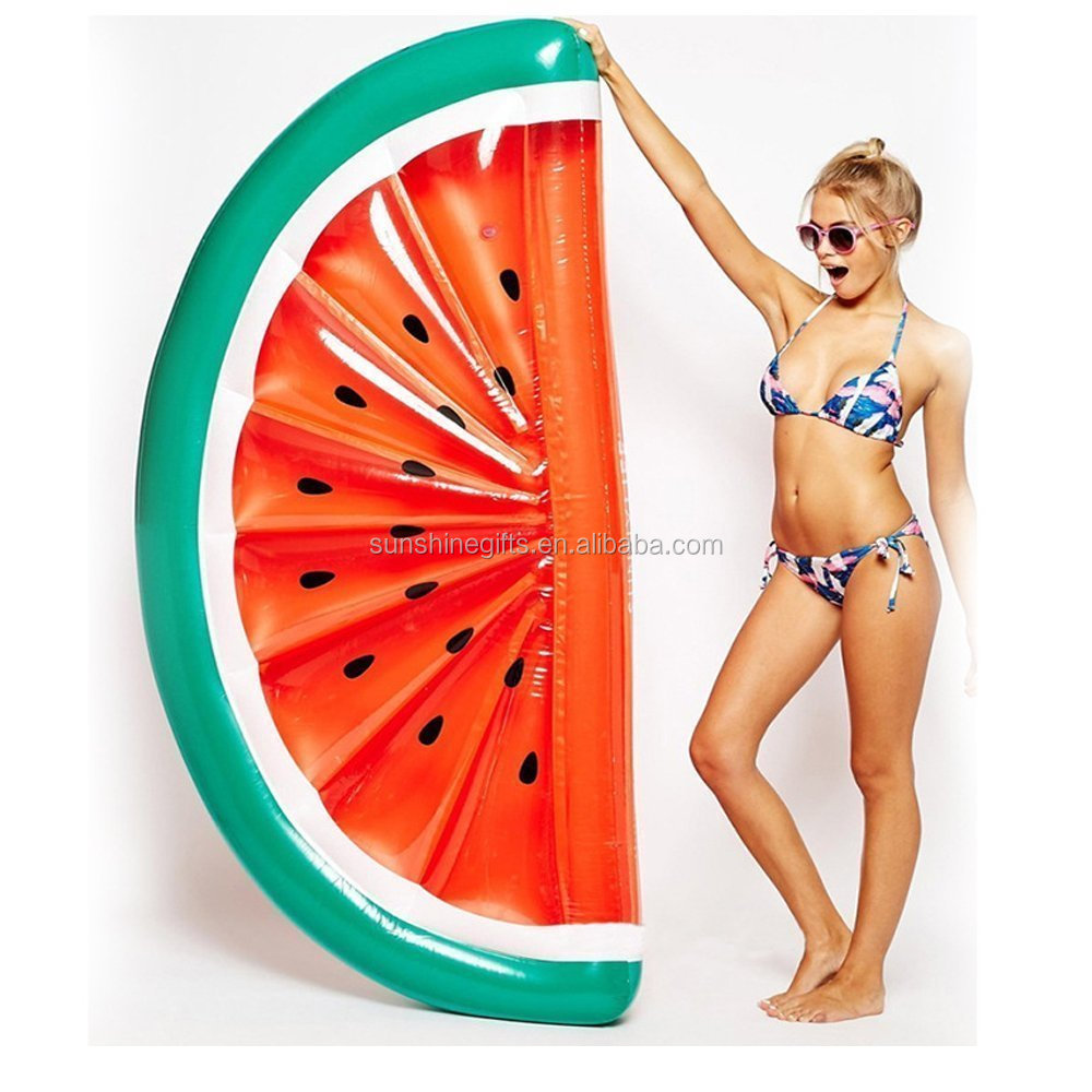 Inflatable Watermelon Pool Float Swimming Raft Lounger Beach Swim Ring Toy Tube