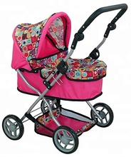Adjustable Handle Jogger Baby Doll Stroller with toys Storage awning Basket Stroller@