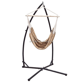 Hammock Steel C-frame Stand Porch Cotton Rope Swing Chair Cradle ...