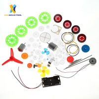 69 PCS Set Motor Plastic Gears Set Toy Car DIY Worms Belts Bushings Pulleys Wheels Gears Kit Colorful Robots Single Double Gear