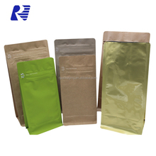 New Promotion laminated kraft brown paper bag for seed packaging
