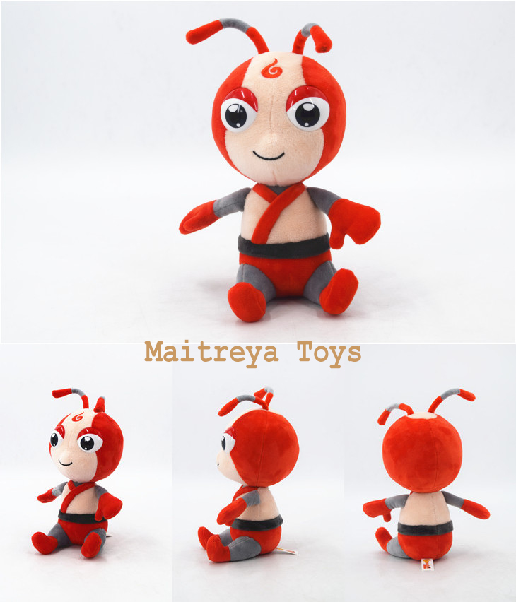 Smart Red Big Eyes Boy Cute Cartoon Character Stuffed Doll Ant