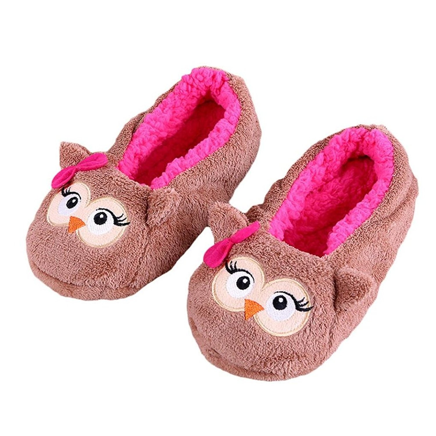 0cc0f17d8f0 Get Quotations · Appoi Women Slippers Plush Cotton Warm Indoor Slippers  Christmas Shoes Soft Plush Slippers Women Plush