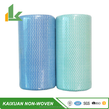 disposable non woven rags, polyester/ viscose perforated cleaning fabric roll, lint free wipe roll