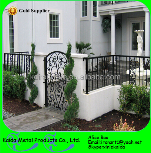 Modern Short Metal Frame Material Wrought Iron Fence Panels