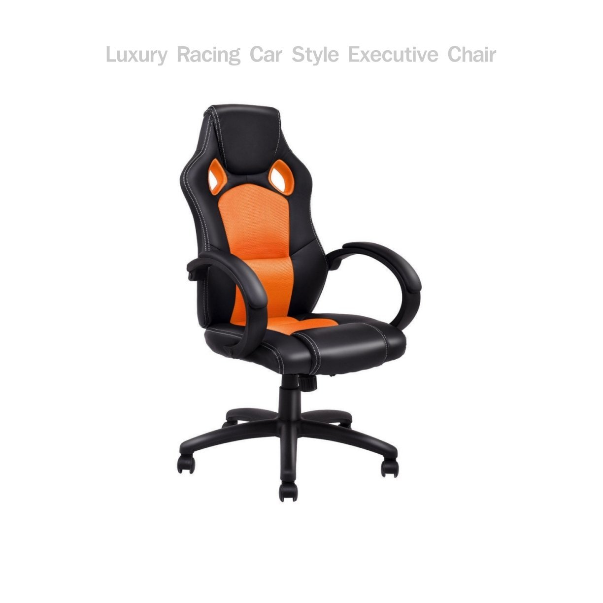 Get Quotations · Modern Racing Style High Back Executive Office Desk Gaming  Chair Comfortable Bucket Seat Swivel Desk Task