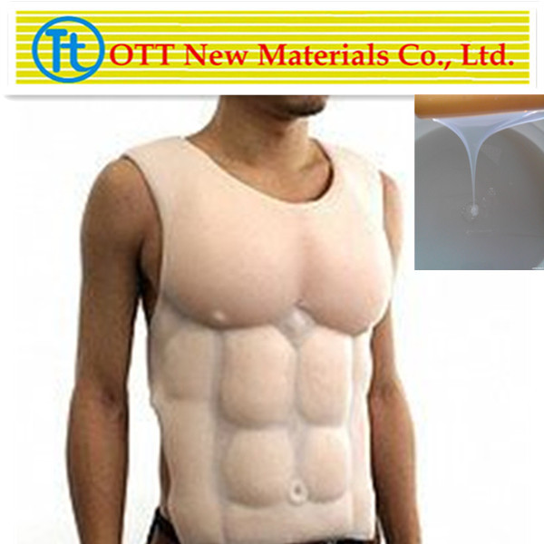 Fake silicone breast forms for men,raw materials of RTV 2 liquid silicon/silikon