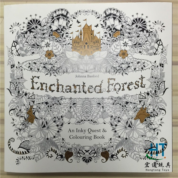 DHL Fedex Free Shipping 2015 Factory Direct Selling Secret Garden Adult Coloring Book Adults Drawing
