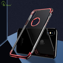 NEW 3in1 electroplated TPU+PC shockproof phone Case For iPhone X, chrome TPU anti-shock cover case for iPhone X