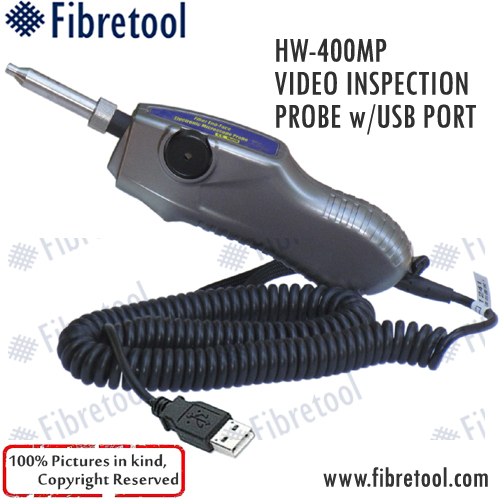 HW-400 MP Video Fiber Optic Connector Inspection Probe