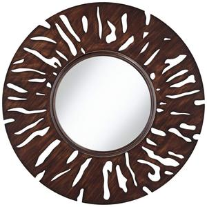 "31 1/2"" Round Cutout Wall Mirror"