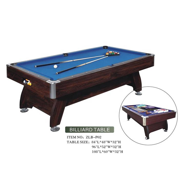 Professional Manufacturer Indoor 7Ft 8Ft 9Ft Pool Billiard Snooker Table For Sale