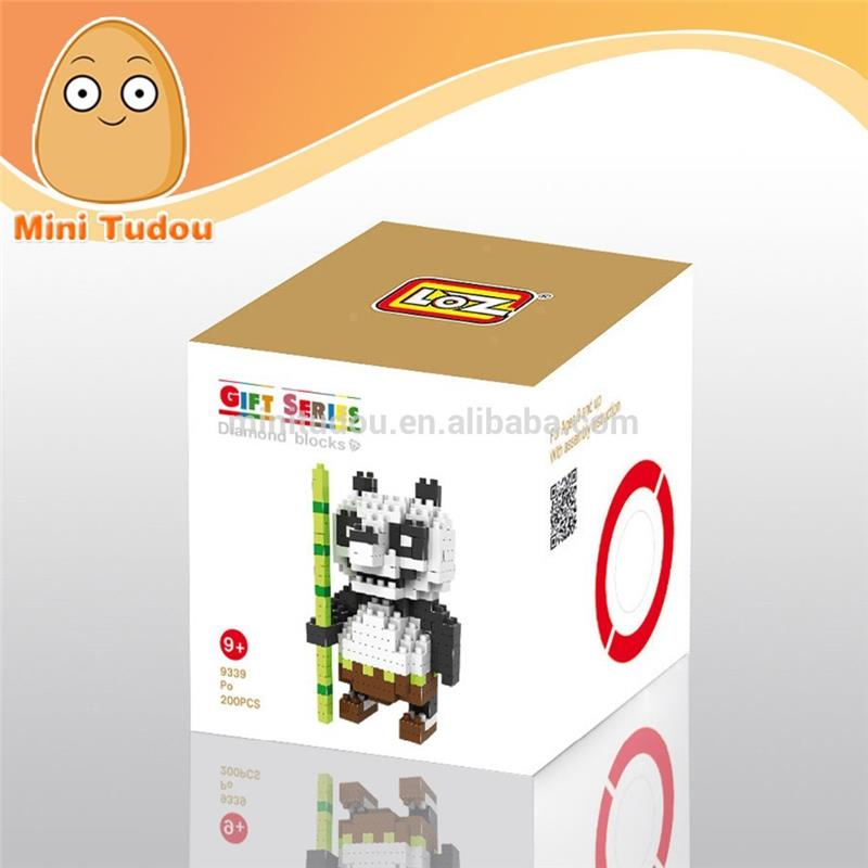 LOZ Diamond Blocks Cartoon Figure Blocks Present for Kids