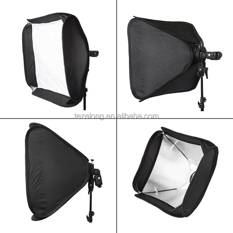 "2017 Hight quality Flash Softbox 40x40 cm / 15"" * 15"" Godox Adjustable Studio Photo Light softbox quick set up"