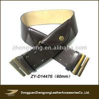 2013 Ladies fashion belt with pocket,leather money belt