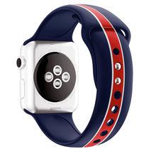 Ремешок для Apple Watch 5 4 band 42 мм 38 мм Браслет спортивная мягкая силиконовая лента резиновый браслет для iWatch серии 4 3 2 1 44 мм 40 мм(Китай)