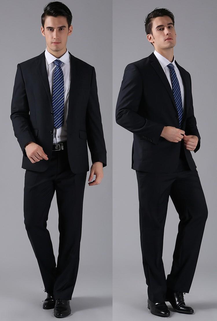 (Kurtki + Spodnie) 2016 Nowych Mężczyzna Garnitury Slim Fit Niestandardowe Garnitury Smokingi Marka Moda Bridegroon Biznes Suknia Ślubna Blazer H0285 37