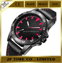 Fashion outdoor black alloy case Leather pc21 a japanese movement watch