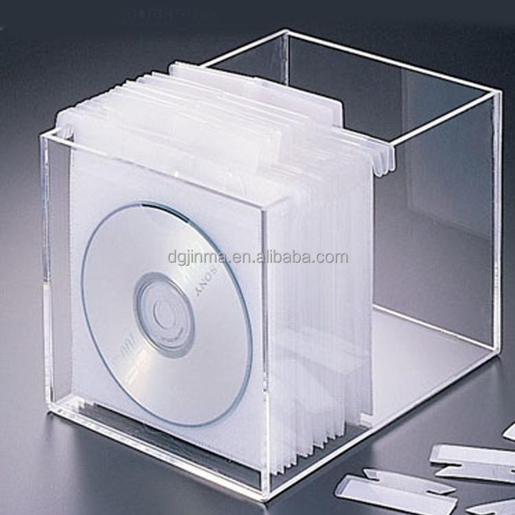 offre claire acrylique dvd bo te de rangement cd. Black Bedroom Furniture Sets. Home Design Ideas