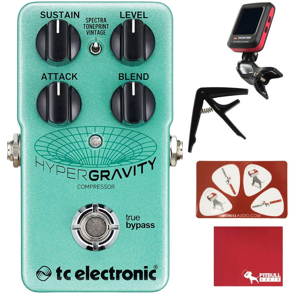 Get Quotations TC Electronic HyperGravity Compressor Guitar Effects Pedal With Polish Cloth Pick Card Tuner