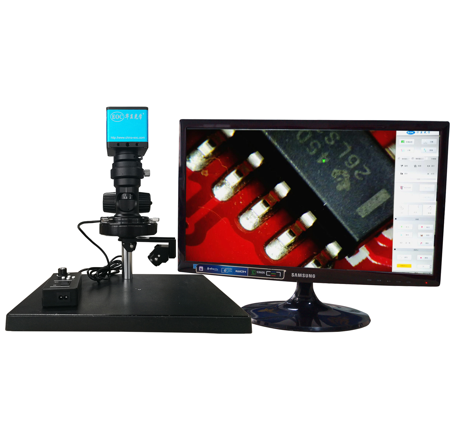 electronic connector 3D semiconductor HDMI Digital USB video microscope