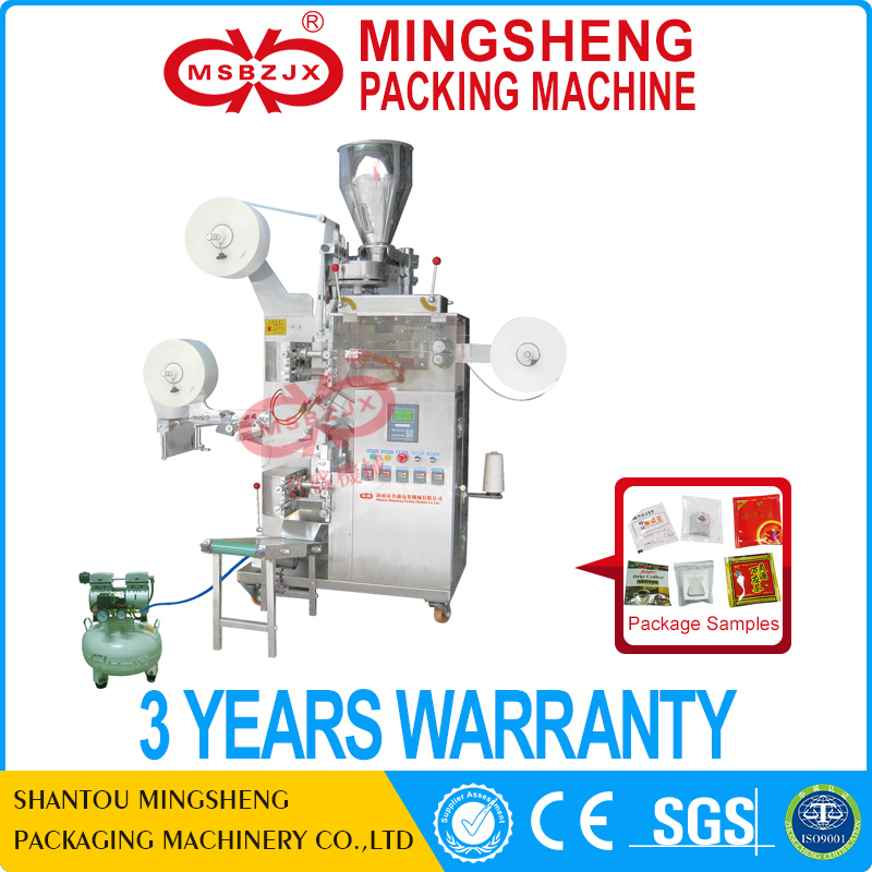 JX003 Fully automatic outer and inner tea bag with thread and tag packing machine manufacturer machine