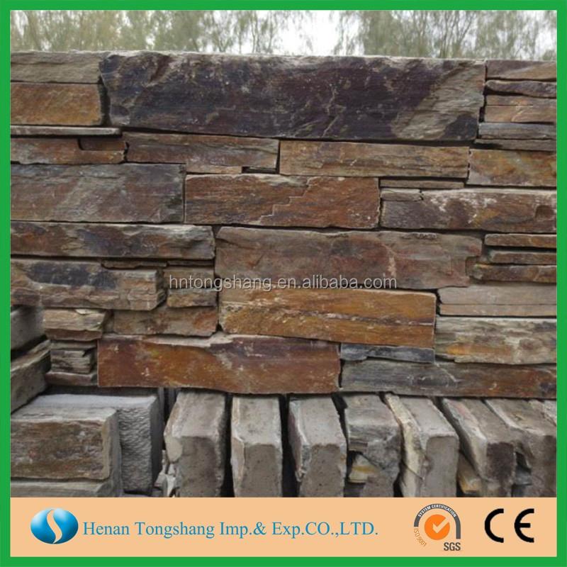 piedra en bruto precio con fina pizarra de la pared exterior de piedra pizarra de
