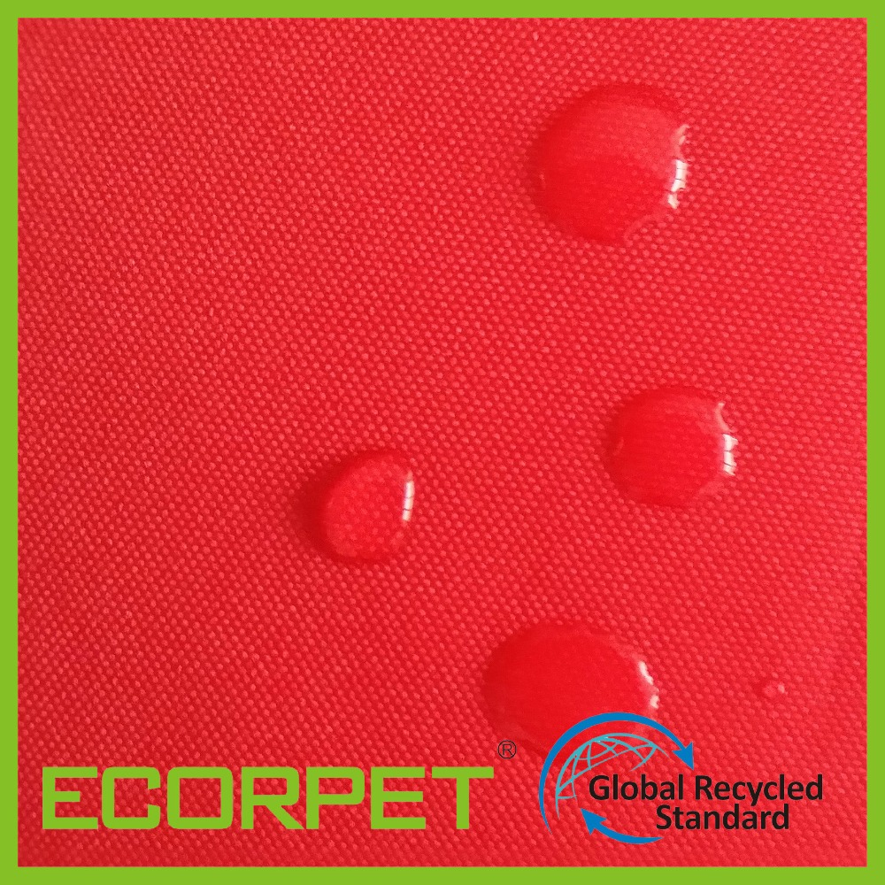 Bag material 300D waterproof oxford fabric from plastic bottle