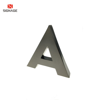 Laser Cutting Different Styles Plating Alphabet Letter Metal Letter