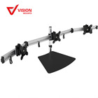 VM-MP230S B-02 New Full Motion Lockable LCD Adjustable Triple Monitor Stand