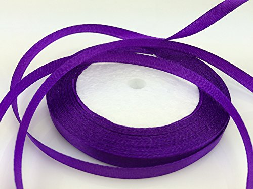 "Solid Color Satin Ribbon 1/4"",25yds (purple)"