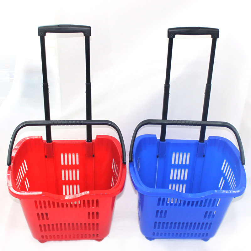 Afbeeldingsresultaat voor shopping basket plastic two wheels