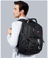 SWISSGEAR brand waterproof fabric picnic backpack bags black laptop backpack hiking