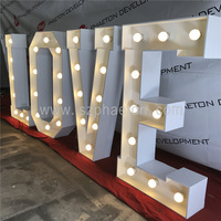 custom wedding letters love marquee letter signs metal, vintage light bulb letter sign, custom marquee letter sign