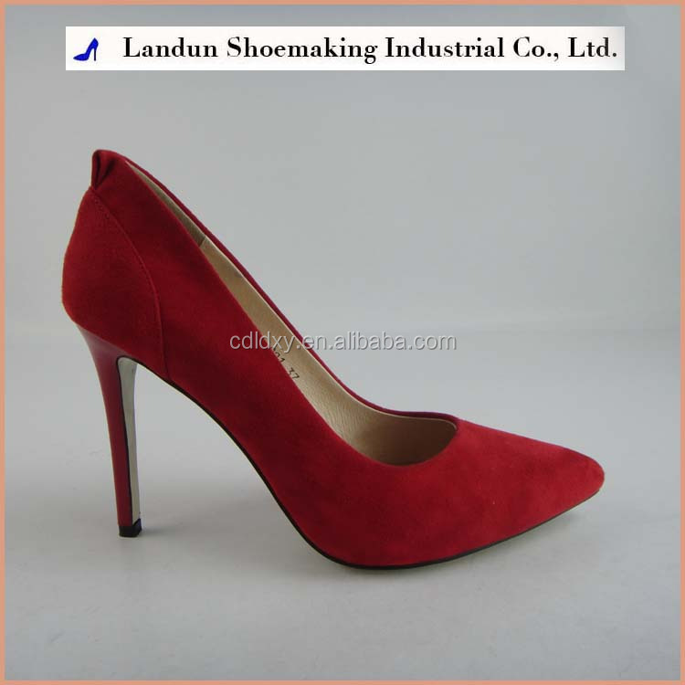 red leather women pumps wedding shoes office pointed toe shoes