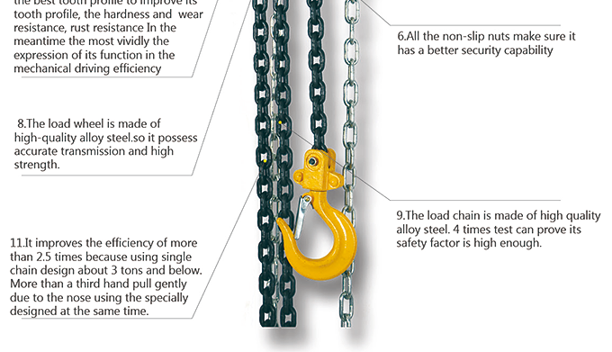 China Supplier 5 Ton Chain Pulley Block Mechanism