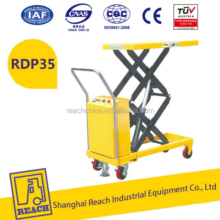 Durable service best price electric power ladder lift table